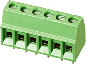 EK254V-04P, Клеммник 4 конт. шаг 2.54 мм, вертик. на плату, H = 8.5 мм, микролифт (пров. 28-16AWG/ до 1.5 кв.мм)