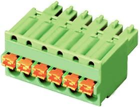 """ESC381V-02P, Клеммник 2 конт. """"гнездо"""" шаг 3.81 мм с фиксат., пружинный зажим (пров. 28-16AWG/ до 1.5 кв.мм), до"""