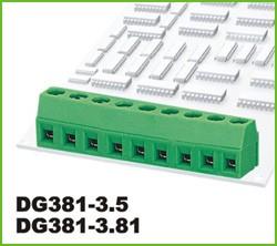 DG381-3.5-03P-14-00AH, Клеммник 3 конт. шаг 3.50 мм модульный, вертик. на плату, H = 8.6 мм, микролифт (пров. 26-16AWG/ до