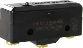 Фото 1/3 BZ-R-A2, Микропереключатель SPDT 15A 250 VAC