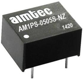 AM1PS-1212S-NZ, DC/DC преобразователь, 1 Вт, вход 10,8-13,2 В, выход 12 В/84 мА