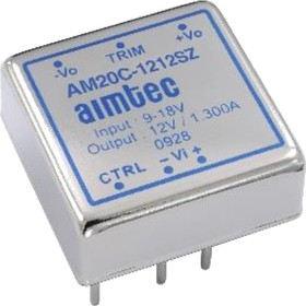 AM20C-1215DZ, DC/DC преобразователь, 20 Вт, вход 9-18 В, выход +15, -15 В/±667 мА