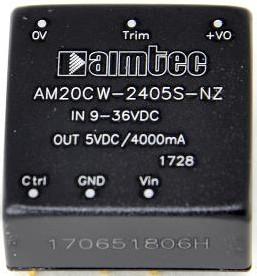AM20CW-4805SZ, DC/DC преобразователь, 20 Вт, вход 18-75 В, выход 5 В/4000 мА