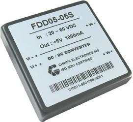 FDD05-12D4, DC/DC преобразователь, 6Вт, вход 9…36В, выход ±12В/±250мА