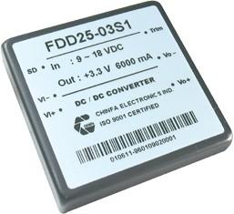 FDD25-12S3, DC/DC преобразователь, 30Вт, Uвх=36 - 72В, Uвых=12В/2.5А