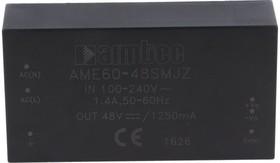 AME60-5SMJZ, AC/DC преобразователь, 60 Вт, 5 В /10000 мА