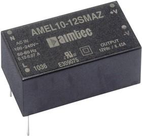 AMEL10-524DMAZ, AC/DC преобразователь, 10 Вт, 5В/0.6А и 24В/0.2А