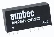 AM2GH-2412DZ, DC/DC преобразователь, 2Вт, вход 9…36В, выход ±12В/±83мА