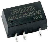 AM2LS-1224S-NZ, DC/DC преобразователь, 2 Вт, вход 10,8-13,2 В, выход 24 В/83 мА