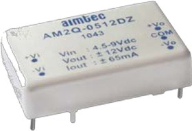 AM2Q-0505SZ, DC/DC преобразователь, 2 Вт, вход 4,5-9 В, выход 5 В / 400 мА