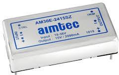 AM30E-4812SZ, DC/DC преобразователь, 30Вт, вход 36…75В, выход 12В/2,5А