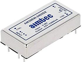AM30EW-240512TZ, DC/DC преобразователь, 30Вт, вход 9…36В, три выхода: 5В/4A и ±12В/±0,42А
