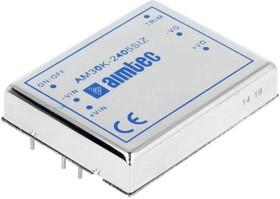 AM30K-2412DIZ, DC/DC преобразователь, 30Вт, Uвх=18…36В, Uвых=±12В/±1.25А