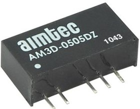 AM3D-1212SH30Z, DC/DC преобразователь, 3Вт, вход 10,8…13,2В DC, выход 12В/250мА