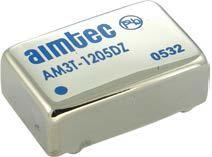 AM3T-4824D-VZ, DC/DC преобразователь, 3Вт, вxод 36…72В, выxод ±24В/±60мА