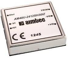 AM40U-1224SIZ, DC/DC преобразователь, 40 Вт, вход 9-18 В, выход 24 В / 1500 мА