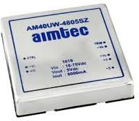 AM40UW-2424SH30IZ, DC/DC преобразователь, 40 Вт, вход 9-36 В, выход 24 В / 1500 мА
