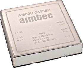 AM60U-2412SZ, DC/DC преобразователь, 60Вт, вход 18…36В DC, выход 12В/5А