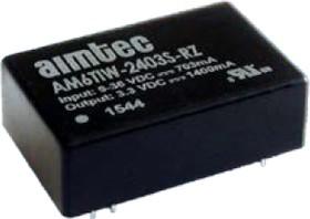 AM6TIW-4824S-RZ, DC/DC преобразователь, 6 Вт, вход 18-75 В, выход 24 В / 250 мА