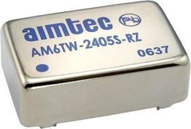 AM6TW-2415S-RVZ, DC/DC преобразователь, 6 Вт, вход 9-36 В, выход 15 В / 400 мА