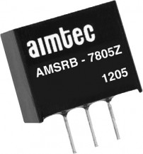 AMSRB-7812Z, DC/DC преобразователь, 6Вт, вход 14…28В DC, выход 12В/500мА