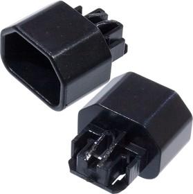 """AL-709, Разъем питания IEC-320 (C14) 220В/10А 3-х конт. """"вилка"""", без амортизатора/корпуса"""