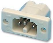 1049/WS, Разъем ввода питания, IEC C16, 10 А, Белый, 250 В AC