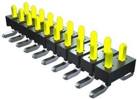 TMM-105-01-G-D, Разъем типа плата-плата, двойной, Серия TMM, 10 контакт(-ов), Штыревой Разъем, 2 мм