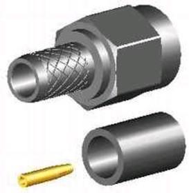 SMA-03F-TGG-RP, Разъем SMA, штекер RP, RG-58, обжим