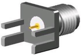 SMA-10V26-TGG, Разъем SMA, гнездо на плату