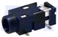 """ST-3008-02-TR (SL), Разъем аудио-стерео 3.5 мм """"гнездо"""" 3-x конт., поверхн. монтаж на плату, с фиксат. в отверст. платы,"""