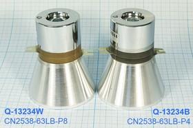 Фото 1/7 Ультразвуковой излучатель для систем отмывки 25кГц/60Вт, конст УП\Преобр\ 25к\ 60Вт\63x76\ CN2538-63LB-P8\