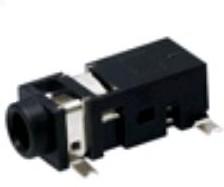 """ST-5020-02-TR (SL), Разъем аудио-стерео 2.5 мм """"гнездо"""" 3-x конт., поверхн. монтаж на плату, с фиксат. в отверст. платы,"""