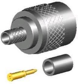 TNC-05F-TGN, Разъем TNC, штекер, RG-58, обжим