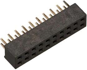 """SD2X10-HH-CN (PBD2-20), Разъем """"гнездо"""" 20 конт.(2x10) шаг 2.00 мм, вертик. на плату"""