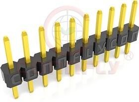 DS1025-01-1*5 P8BV1 (PLS2-5) (PLS2-05), Вилка штыревая 2мм 1х5 прямая