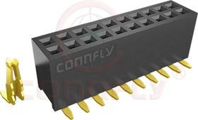DS1065-05-2*4 S8BSXB (PBD1.27-8S*) (PBD1.27-08S*), Гнездо 1.27 мм 2х4 прямое поверхностный монтаж