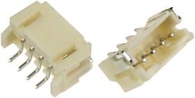 """PH04W-R1K-H-CN (MW-4MSR) (MW-4MRS), Разъем пит-я/сигнал. """"вилка"""" 4 конт.(1x4) шаг 2.00 мм, горизонт., поверхн. монтаж на плату (PH тип)"""
