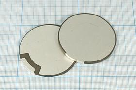 Ультразвуковой диск излучатель из пьезокерамики 50x2.6мм, 43кГц пэу 50x 2,6\диск\43,43кГц\ \PZT4\\\VOISE