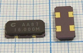 кварцевый резонатор 16МГц в корпусе SMD 12x5.5мм, 16000 \SMD12055C4\32\ 30\\CS20\1Г