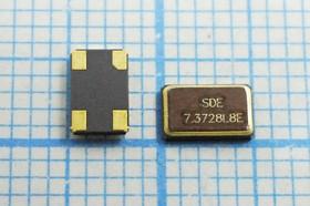 Фото 1/2 кварцевый резонатор 7.3728МГц, 4-х контактые SMD 5x3.2мм, 7372,8 \SMD05032C4\ 8\ 10\ 30/-40~85C\SMD0503(4P)\