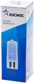 Лампа галогенная капсульная КОСМОС 220В/50Вт G6.35 прозрачный
