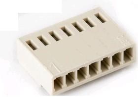 "MK07H-H (HU-7), Колодка разъема пит-я/сигнал. ""гнездо"" 7 конт.(1x7) шаг 2.54 мм, на кабель без контактов"