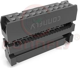 """DS1016-08 MASIBB (IDC-8) (IDC-08) (IDC-8F), Разъем IDC """"гнездо"""" 2,54мм 2x4 на шлейф"""