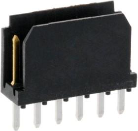 76384-306LF, Штыри 1x6 конт. 2.54 мм с фиксатором, вертик. на плату (3.4 мм/ 5.0 мм)