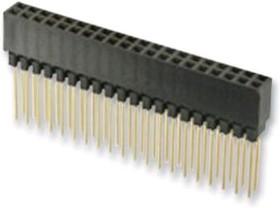 PC104-011-2*32 B61, Разъем PC104 64 конт. 2x32 тип Stack, шаг 2.54мм