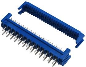 Фото 1/2 69830-026LF, Разъем IDC-DIP 26 конт.(2x13) 2.54x2.54 мм, на шлейф (шаг 1.27 мм), вертик. на плату, синий