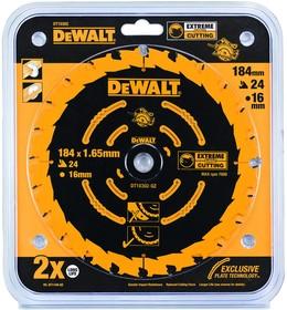 Круг пильный твердосплавный DeWALT DT10302-QZ по дереву EXTREME DEWALT® 184/16 1.65 24 WZ +18°
