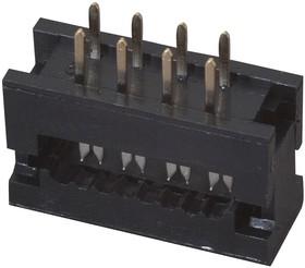 DS1018-02-08 B2 (FDC2-8) (FDC2-08), Вилка на плату 2мм 8 pin на шлейф (шаг 1.00 мм)