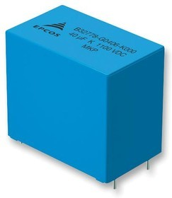 Фото 1/6 B32778G0406K000, 40 мкФ, 1100 В, 10% MKP BOXED, Конденсатор металлоплёночный
